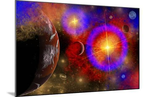 A Colorful Section of Alien Space in Our Galaxy--Mounted Art Print