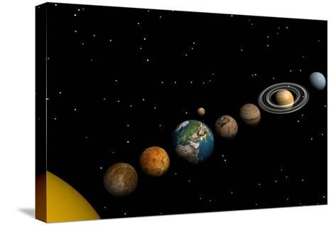 Planets of the Solar System--Stretched Canvas Print