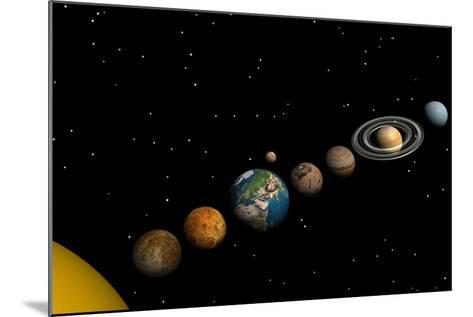 Planets of the Solar System--Mounted Art Print
