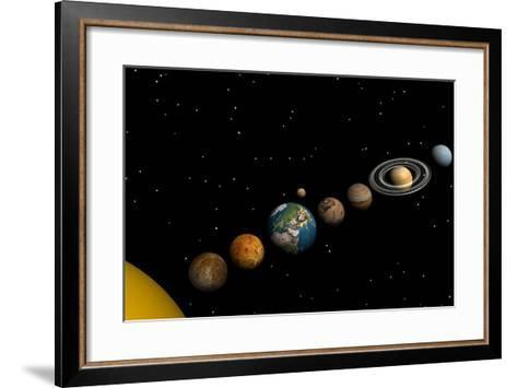 Planets of the Solar System--Framed Art Print