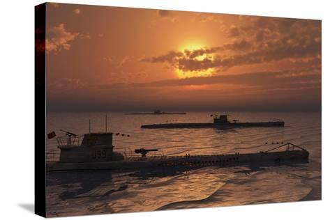 A Wolfpack of German U-Boat Submarines--Stretched Canvas Print