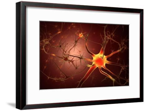 Conceptual Image of Neuron--Framed Art Print