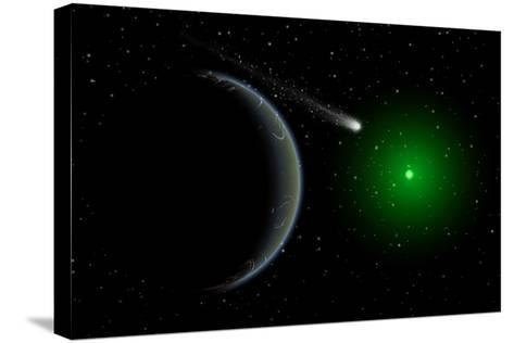 A Comet Passing a Distant Alien World--Stretched Canvas Print