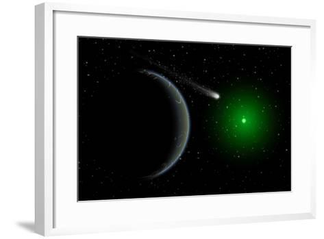 A Comet Passing a Distant Alien World--Framed Art Print