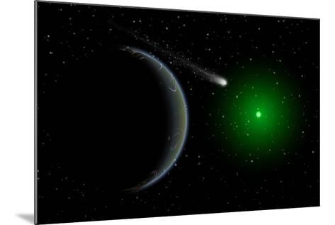 A Comet Passing a Distant Alien World--Mounted Art Print