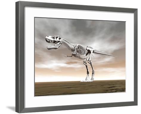 Tyrannosaurus Rex Skeleton--Framed Art Print