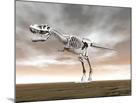 Tyrannosaurus Rex Skeleton--Mounted Art Print