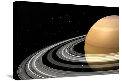 Close-Up of Saturn and its Planetary Rings--Stretched Canvas Print