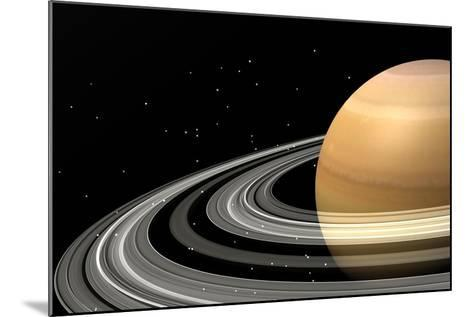 Close-Up of Saturn and its Planetary Rings--Mounted Art Print