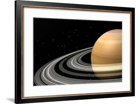Close-Up of Saturn and its Planetary Rings--Framed Art Print