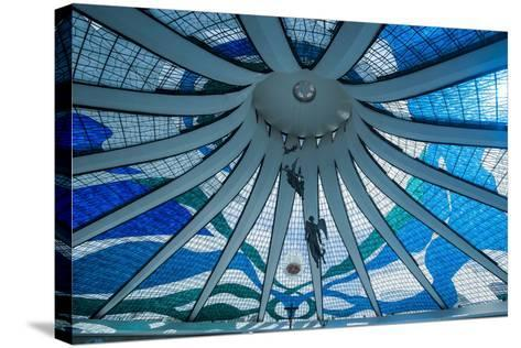 Stained Glass in the Metropolitan Cathedral of Brasilia-Michael Runkel-Stretched Canvas Print