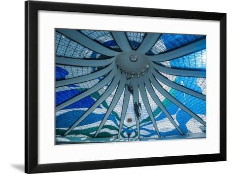 Stained Glass in the Metropolitan Cathedral of Brasilia-Michael Runkel-Framed Art Print