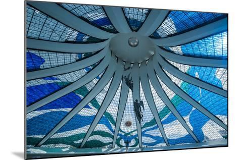 Stained Glass in the Metropolitan Cathedral of Brasilia-Michael Runkel-Mounted Photographic Print