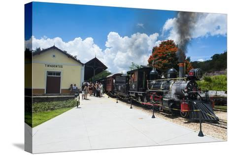 Historical Steam Train Maria Fuma §A in Tiradentes, Minas Gerais, Brazil, South America-Michael Runkel-Stretched Canvas Print