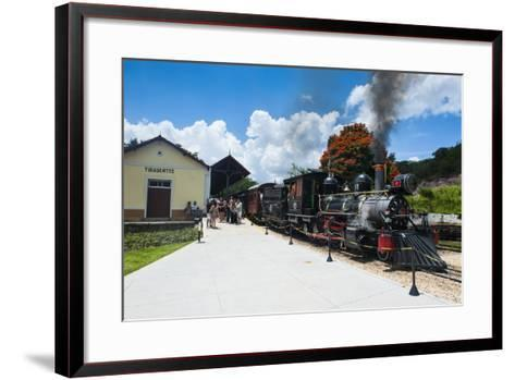 Historical Steam Train Maria Fuma §A in Tiradentes, Minas Gerais, Brazil, South America-Michael Runkel-Framed Art Print