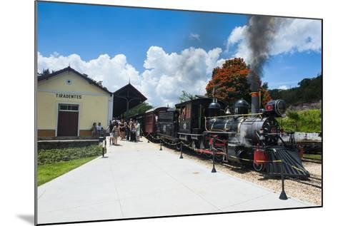 Historical Steam Train Maria Fuma §A in Tiradentes, Minas Gerais, Brazil, South America-Michael Runkel-Mounted Photographic Print