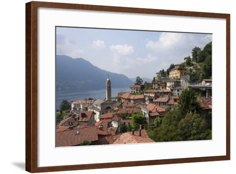 Village Overlooking Lake Garda, Italian Lakes, Lombardy, Italy, Europe-James Emmerson-Framed Art Print