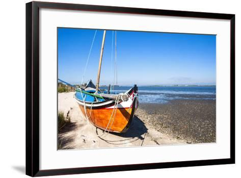 Colorful Boats on the Beach, Torreira, Aveiro, Beira, Portugal, Europe-G and M Therin-Weise-Framed Art Print