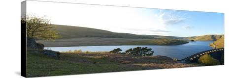 A Panoramic View of Craig Goch Reservoir-Graham Lawrence-Stretched Canvas Print
