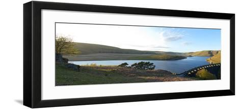 A Panoramic View of Craig Goch Reservoir-Graham Lawrence-Framed Art Print
