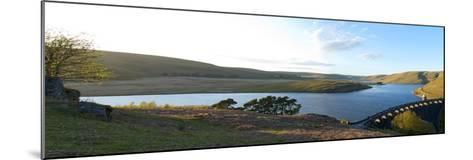 A Panoramic View of Craig Goch Reservoir-Graham Lawrence-Mounted Photographic Print