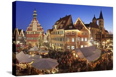 Christmas Fair at the Marketplace-Markus Lange-Stretched Canvas Print