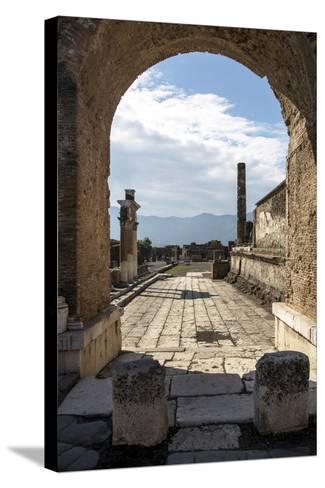 Pompeii Ruins, UNESCO World Heritage Site, Campania, Italy, Europe-Angelo Cavalli-Stretched Canvas Print