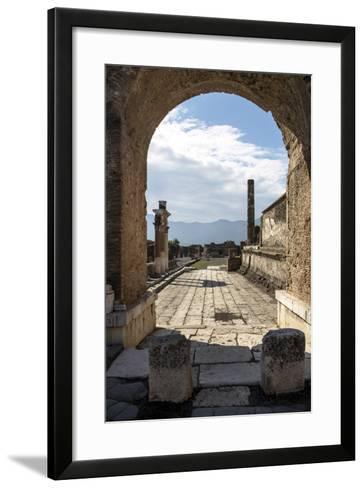 Pompeii Ruins, UNESCO World Heritage Site, Campania, Italy, Europe-Angelo Cavalli-Framed Art Print