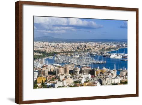Palma De Majorca Harbor Bay from Bellver Castle-Nico Tondini-Framed Art Print