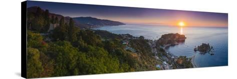 The Sicilian Coast at Sunrise-Matthew Williams-Ellis-Stretched Canvas Print