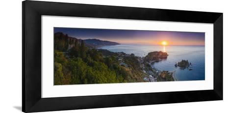 The Sicilian Coast at Sunrise-Matthew Williams-Ellis-Framed Art Print