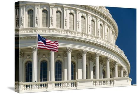 Close Up of the Capitol Building-John Woodworth-Stretched Canvas Print