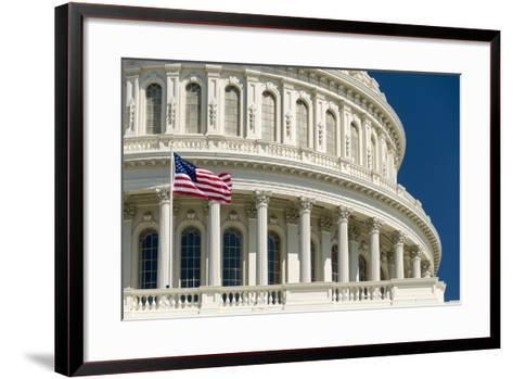 Close Up of the Capitol Building-John Woodworth-Framed Art Print