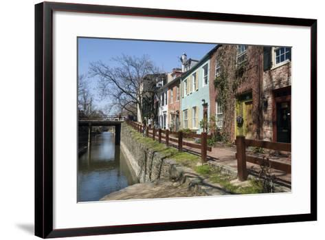 Old Houses Along the C and O Canal-John Woodworth-Framed Art Print