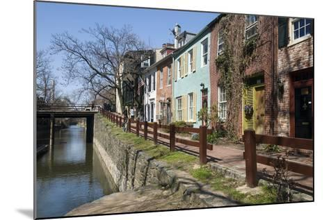 Old Houses Along the C and O Canal-John Woodworth-Mounted Photographic Print