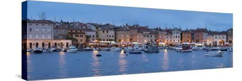 Panoramic Image of the Waterfront and Harbour-Markus Lange-Stretched Canvas Print