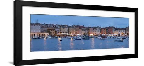 Panoramic Image of the Waterfront and Harbour-Markus Lange-Framed Art Print