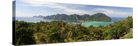 Ao Ton Sai and Ao Dalam Bays from Viewpoint-Stuart Black-Stretched Canvas Print