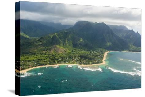 Aerial of the North Shore of the Island of Kauai, Hawaii, United States of America, Pacific-Michael Runkel-Stretched Canvas Print