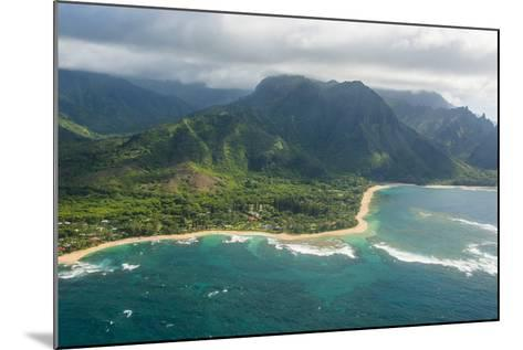 Aerial of the North Shore of the Island of Kauai, Hawaii, United States of America, Pacific-Michael Runkel-Mounted Photographic Print