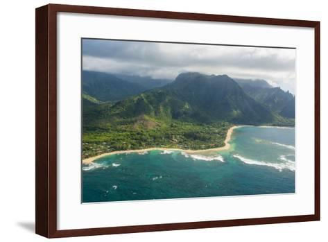 Aerial of the North Shore of the Island of Kauai, Hawaii, United States of America, Pacific-Michael Runkel-Framed Art Print