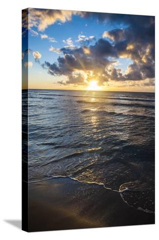 Sunset in Kauai, Hawaii, United States of America, Pacific-Michael Runkel-Stretched Canvas Print