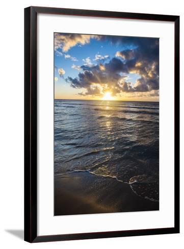Sunset in Kauai, Hawaii, United States of America, Pacific-Michael Runkel-Framed Art Print