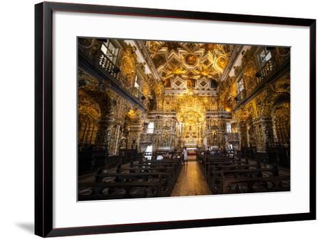 Interior of the Saint Francisco Church in the Pelourinho-Michael Runkel-Framed Art Print