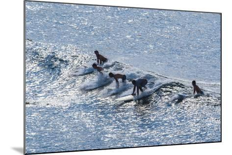 Surfers at the Hookipa Beach Park, Paai, Maui, Hawaii, United States of America, Pacific-Michael Runkel-Mounted Photographic Print