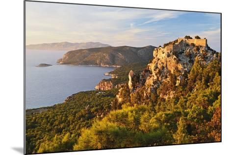 Monolithos Castle and Aegean Sea, Rhodes, Dodecanese, Greek Islands, Greece, Europe-Jochen Schlenker-Mounted Photographic Print