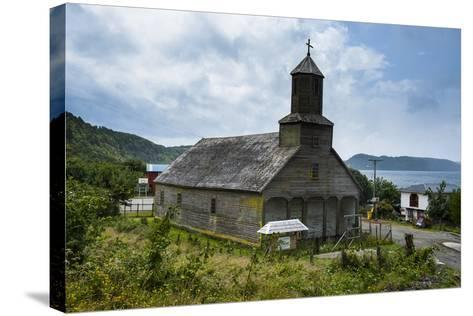The Wooden Church of Detif, UNESCO World Heritage Site, Chiloe, Chile, South America-Michael Runkel-Stretched Canvas Print