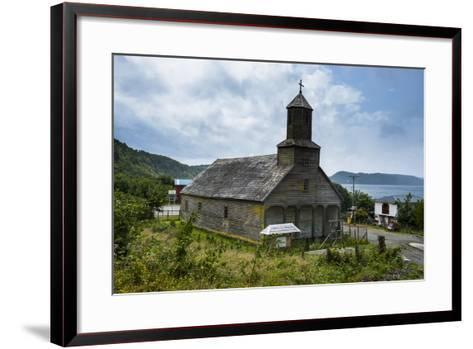 The Wooden Church of Detif, UNESCO World Heritage Site, Chiloe, Chile, South America-Michael Runkel-Framed Art Print