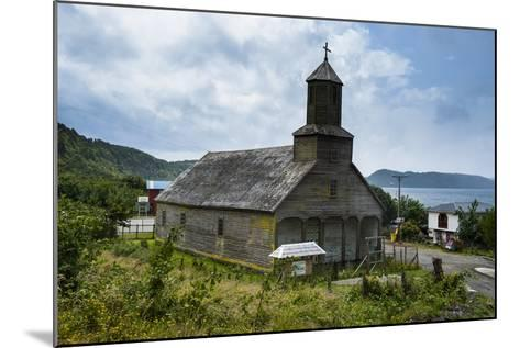 The Wooden Church of Detif, UNESCO World Heritage Site, Chiloe, Chile, South America-Michael Runkel-Mounted Photographic Print