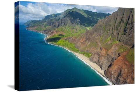 Aerial of the Rugged Napali Coast, Kauai, Hawaii, United States of America, Pacific-Michael Runkel-Stretched Canvas Print